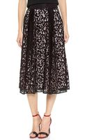 Milly Lace Skirt Blackblush - Lyst