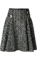 Versace A-Line Tweed Skirt - Lyst