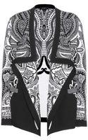 Etro Draped Wool Cardigan - Lyst