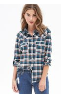 Forever 21 Woven Plaid Flannel - Lyst