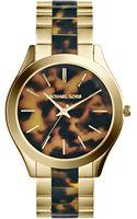 Michael Kors Metals Tortoise Ladies Watch - Lyst