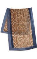 Tory Burch Zebraprint Silk Wool Scarf - Lyst