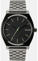 Nixon Time Teller Gunmetal Stainless Steel Strap Watch A045 - Lyst