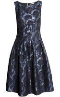H&M Brocade Dress - Lyst