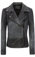 Muubaa Pavola Grey Ombre Crocodile Leather Biker Jacket - Lyst