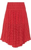 Preen Line Clare Embroidered Tulle Midi Skirt - Lyst