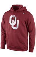 Nike Oklahoma Sooners Warp Performance Hoodie - Lyst
