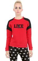 American Retro Rafi Beaded Cotton Sweatshirt - Lyst