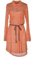 Velvet Short Dress - Lyst