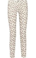 Etoile Isabel Marant Iti Mid Rise Printed Corduroy Skinny Jeans - Lyst