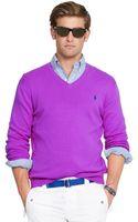 Polo Ralph Lauren Pima V-neck Sweater - Lyst
