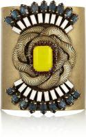 Dannijo Marlow Oxidized Gold Tone Swarovski Crystal Cuff - Lyst
