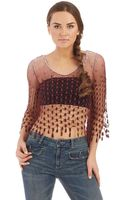 Free People Mermaid Lace Top - Lyst