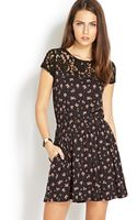 Forever 21 Ditsy Floral Crochet Lace Dress - Lyst