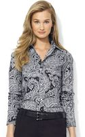 Lauren by Ralph Lauren Plus Paisley Wrinklefree Dress Shirt - Lyst