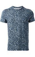Moncler W Leopard Print T-Shirt - Lyst