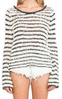 Free People Downy Stripe Pullover - Lyst