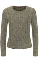 Missoni Tweed Collarless Jacket - Lyst