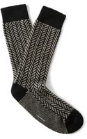 Club Monaco Herringbone Cashmere-blend Socks - Lyst
