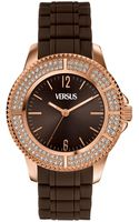 Versus  Womens Tokyo Brown Rubber Strap 42mm Sgm06 - Lyst