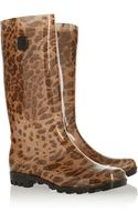 Dav Jelly Lug Leopard-print Rubber Boots - Lyst