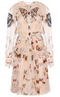 Givenchy Printed Silk Chiffon Dress - Lyst