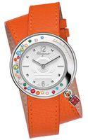 Ferragamo Ladies Gancino Silvertone Leather Watch - Lyst