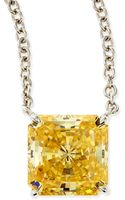 Fantasia By Deserio 10mm Radiant Canary Cubic Zirconia Necklace - Lyst