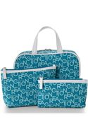 Kenneth Cole Reaction Blue 3-piece Cosmetic Bag Set - Lyst