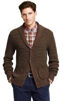 Tommy Hilfiger Textured Shawl Collar Cardigan - Lyst