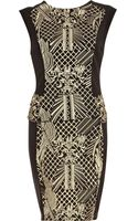 River Island Embroidered Bodycon Dress - Lyst
