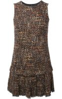 Dolce & Gabbana Sleeveless Tweed Dress - Lyst