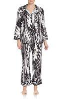 Natori Agila Printed Pajama Set - Lyst