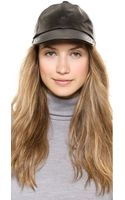 Hat Attack Leather Baseball Cap - Black - Lyst