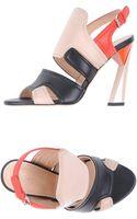 Calvin Klein Highheeled Sandals - Lyst