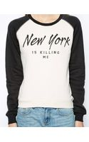 Zoe Karssen Sweatshirt with Ny Is Killing Me Print - Lyst