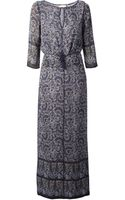 Tory Burch Printed Dress - Lyst
