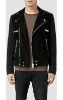 AllSaints Hollins Leather Biker Jacket - Lyst