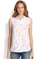 Equipment Colleen Starprint Silk Sleeveless Shirt - Lyst