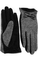 Lauren by Ralph Lauren Tweed Style Gloves - Lyst