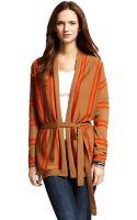Tommy Hilfiger Open Knit Stripe Cardigan Wrap - Lyst