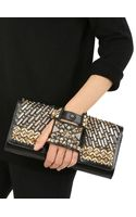 Perrin Paris Studded Gloveinspired Leather Clutch - Lyst