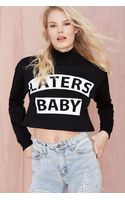 Nasty Gal Rise Of Dawn Laters Baby Crop Sweater - Lyst