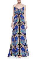 Mara Hoffman Pyramidprint Vneck Maxi Dress - Lyst