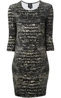 McQ by Alexander McQueen Reptile Print Dress - Lyst