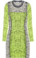 Kenzo Stretch-knit Cotton-blend Mini Dress - Lyst