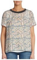 Marc By Marc Jacobs Geometric Mazeprint Silk Top - Lyst