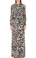Diane Von Furstenberg Amina Floral-print Silk Maxi Dress - Lyst