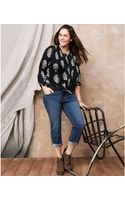Lucky Brand Jeans Lucky Brand Plus Size Ginger Cropped Jeans Wright Wash - Lyst