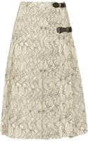 Antonio Berardi Pleated Lace Skirt - Lyst